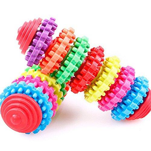 owikar Pet Kauen Spielzeug Hund Slide Gear Molar Zähne Gesunde Reinigung Spielzeug Zähne Zahnfleisch Verschleißfest Bite Toys (Zauberstab Massagegerät Billig)