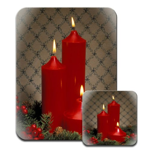 red-lit-candles-holly-berries-ideal-for-christmas-premium-mousematt-coaster-set