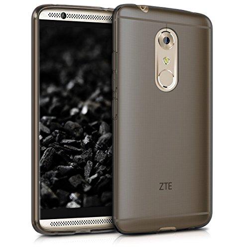Hülle für ZTE Axon 7 - kwmobile Crystal Case Handy Schutzhülle TPU Silikon - Backcover Cover klar Schwarz