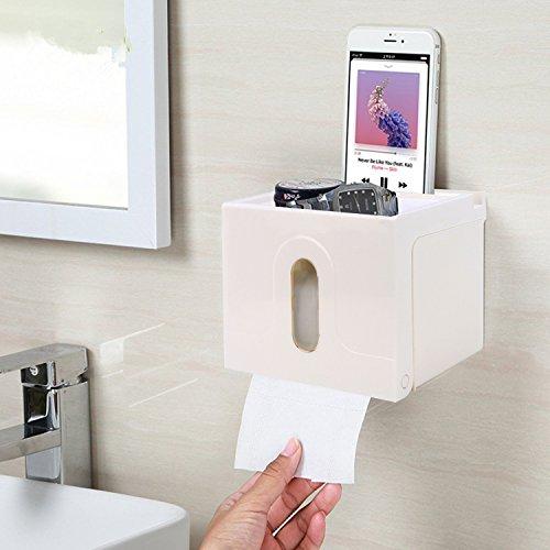 Hokipo Magic Sticker Series Self Adhesive Two Way Kitchen/ Bathroom Toilet Paper Holder Dispenser