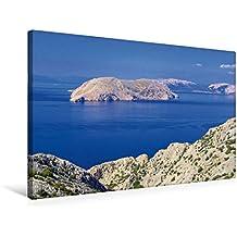 Premium Textil-Leinwand 75 cm x 50 cm quer, Kvarner Golf   Wandbild, Bild auf Keilrahmen, Fertigbild auf echter Leinwand, Leinwanddruck: Kroatien (CALVENDO Orte)