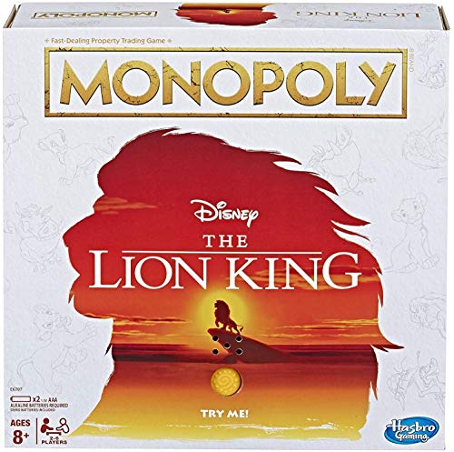 Monopoly Game Disney The Lion King Edition Family Board Game - - Prinzessin Monopoly