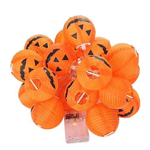 MMLC Kürbis String Lights Halloween Dekoration Lichter mit 20 LED Perlen Beleuchtung Lichter LED String Lights (Gelb)