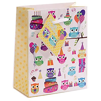 Party Owl Design Gift Bag 11 x 6 x 14cm Gifts, and, Cards Gift Party, Bag, Toys