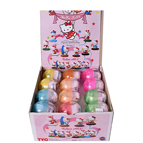 24 Stück Hello Kitty Motiv Modell Eier Sammelfiguren Figuren Sammeln Mädchen Kinder Mitgebsel Hello Kitty Figuren