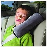 Nackenstütze Auto Sicherheitsgurt, Minleer Gurtpolster Schlafkissen Nackenstütze für Kinder Auto Fahrzeug Seat Gürtel Harness Schulter Pad Cover Kissen (Grau)
