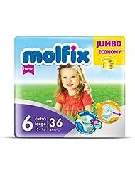 Molfix Extralarge/Jumbo Economie Pack de 36 Couches 15+ kg Taille 6
