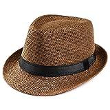 Sonnena Sonnenhut, Unisex Sommerhut Sonnenhüte Panama Strohhut Fischerhut Kappen UV Schutz Gartenhut Wasserdicht Jägerhut Hiking Bucket Hat (Kaffee)