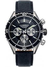 Reloj Viceroy 471041-57 Hombre Piel Acero Titanio Cronógrafo