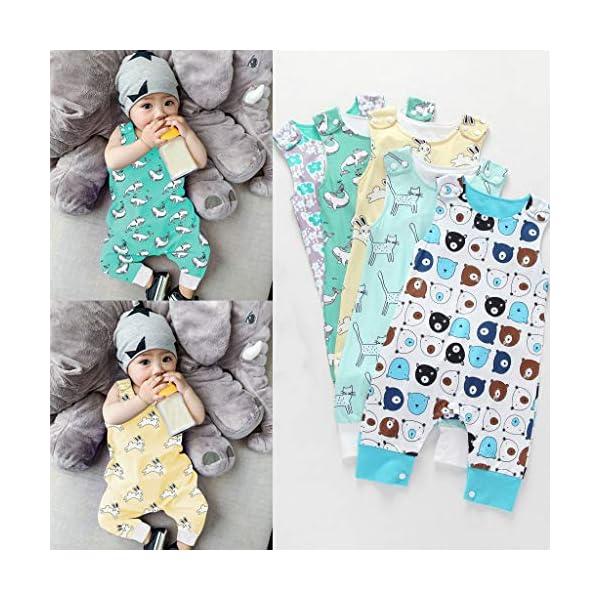 MAYOGO Body bebé Niño Verano Caricatura Bebé Monos sin Manga Mameluco Niño Pelele Recién Nacido bebé Pijama Bodies Bebe… 2