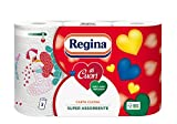 Regina Küchenpapier, 3-lagig, sehr saugstark, 2 Packungen mit je 3 Rollen (6Rollen insgesamt)