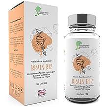 B12 di Brainpower Nootropics | 1000mcg 180 compresse di vitamina B (6 mesi) | Vitamina B essenziale per memoria, concentrazione, attenzione e salute del cervello |Prodotta in GB rispettando rigorosamente le NBF | compresse piccole facili da deglutire | Garanzia soddisfatti o rimborsati