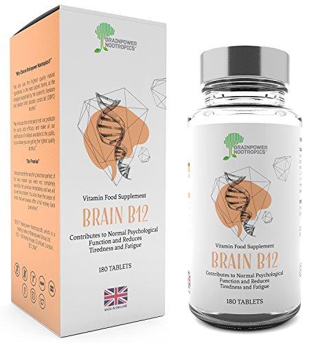 Vitamina B12 | 1000mcg - 180 compresse di vitamina B (6 mesi) | Prodotta in GB secondo i più alti standard | Compresse piccole facili da deglutire | Garanzia soddisfatti o rimborsati
