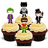 Batman Mix – comestibles cupcake toppers – Pie oblea decoraciones para tartas, 12 unidades