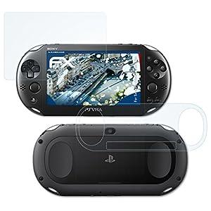 atFoliX Schutzfolie kompatibel mit Sony PlayStation Vita Slim Panzerfolie, ultraklare und stoßdämpfende FX Folie (3er Set)