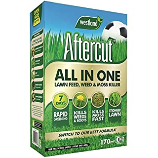 Aftercut All-in- All-in-One Lawn Feed, Weed and Moss Killer, 170 sq m, 5.44 kg