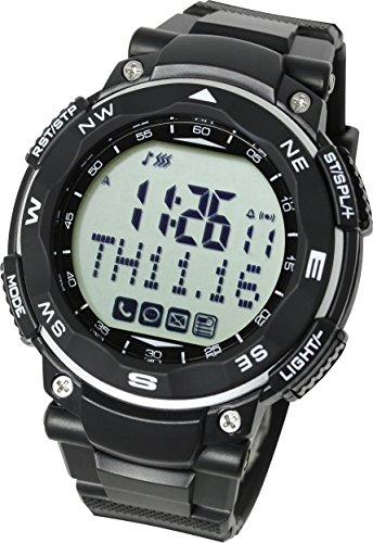 Lad Weather Reloj inteligente para iPhone y Android/Avisos de teléfono móvil llamada correo electrónico mensaje evento/podómetro/teléfono inteligente/conexión Bluetooth/llamada de emergencia