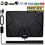 HD Digital TV Antenna, Skywire TV Antenna Indoor Amplified 50-80 Mile Range Support
