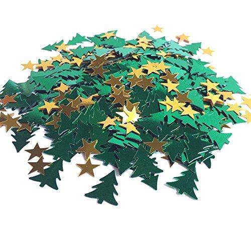 VI. Yo Weihnachten Tisch Konfetti Multicolor Star Weihnachten Bäume Konfetti für Weihnachten Halloween Party Dekoration, 30Gramm (Halloween-weihnachten Baum Dekorationen)