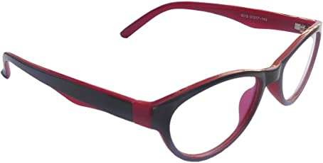 RA-Rock Red Full Rim Light Weight Cat Eye Spectacle Frames For Girls ( Only For 10-15 Year Old Kids)