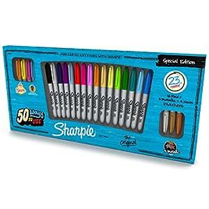 Sharpie Fine Point Marqueur permanents - Edition Spéciale Couleurs Fun (Lot de 23)