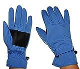 Unbekannt Fingerhandschuhe Softshell - Azur Blau - Thermo gefüttert mit