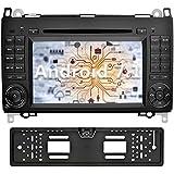 YINUO 7 Pulgadas 2 Din Android 7.1.1 Nougat 2GB RAM Quad Core Pantalla Táctil Reproductor De DVD GPS Navegador Radio Para Mercedes-Benz A-class/W169 B-class/W245 Viano/Vito(W639)(Con Cámara Trasera 4)