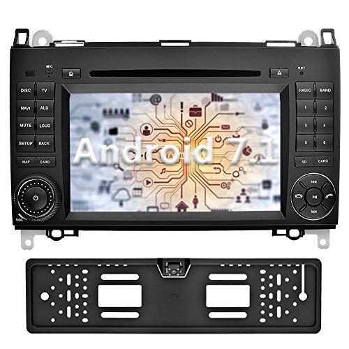 YINUO 7 pouces 2 Din Android 7.1.1 Nougat 2GB RAM Quad Core écran tactile Autoradio Lecteur de DVD GPS Navigation avec Bluetooth pour Mercedes-Benz A-class W169 (2004-2012)/ Mercedes-Benz B-class W245 (2004-2012) / Mercedes-Benz Viano/Vito(W639) (2006-2016)/ Mercedes-Benz Sprinter W906/W209/W311/W315/W318 (2006-2016) (Autoradio avec Caméra arrière 4)