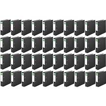 Versando - Lote de 40 archivadores de dos anillas 8 cm con cubiertas de color mármol