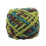 Oyedens 100 gramm Kammgarn Super Weiche Glatte Naturseide Wolle Garn Stricken Pullover Strickgarn (Mehrfarbig_#M)