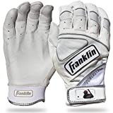 Franklin Sports MLB Chrome Powerstrap Schlaghandschuhe, Franklin Sports Chrome Powerstrap™ Batting Gloves - White - Adult X-Large, weiß, Erwachsene X-Large