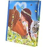 Miss Melody Diario con pegatinas, diseño 1, caballo y chica, 6367