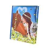 Miss Melody Tagebuch mit Stickern, Motiv 1, Pferd u. Mädchen, 6367