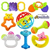 Ramakada Lovely Attractive Colorful Toddlers 7 Rattle and 1 Teether Toys Set