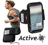 Navitech wasserdicht Schwarz Sport / Fitness / Jogging / Radfahren / Skifahren Armband Tasche Oberarmtasche Schutz Hülle Etui Case fürOnePlus 5T