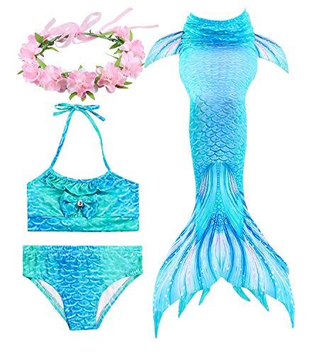 HiFunBay cola sirena niña nadar incluido Traje sirena