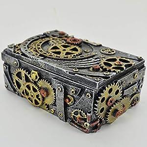 Prezents.com Caja de gemelos mecánicos con diseño de altar para fanáticos de Fantasy y Steampunk 11
