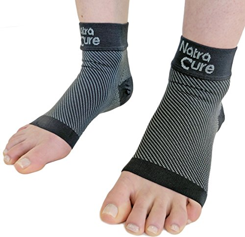 NatraCure Plantarfasziitis Socken - Kompressionssocken & Knöchelbandage - Fersenschutz zur Entlastung der Plantarfaszien und zur Schmerzlinderung am Fussgewölbe - Mittel, Größe M -