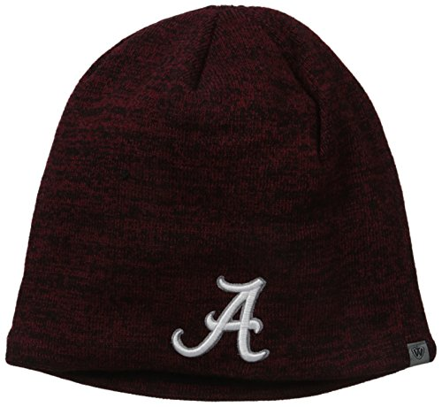 Alabama Crimson Tide Official NCAA One Size Zero Uncuffed Knit Beanie Hat by Top of (Crimson Knit Beanie)