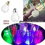 EisEyen Glas Vase Kreative Glühbirne Design Glasvase Blumenvase Blumentopf Transparent Bottle Dekoration Home Hochzeit Dekor Milchflasche, Saftflasche, Smoothieflasche