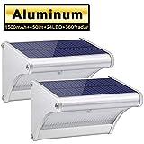 Licwshi Luci solari 450 Lumens esterna impermeabile lega di alluminio Housing, 48 radar LED sensore di movimento per Step, Giardino, Cortile, Deck(2018 nuova versione - 2 pezzo)
