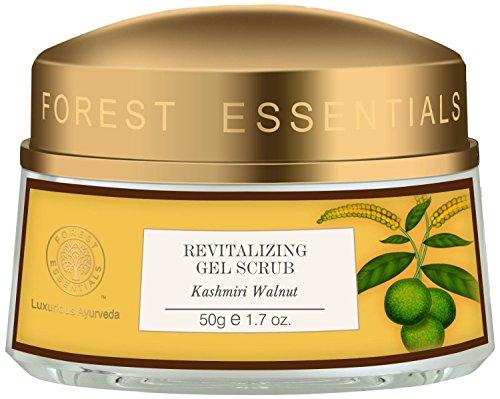 Forest Essentials Revitalisierende Kashmiri Walnuss Gel Scrub, 50g --