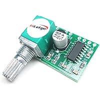 hiletgo® 5pcs Mini 3W + 3W DC 5V amplificador de audio módulo amplificador de potencia Digital de Handy Junta PAM8403de doble canal estéreo Amplificadores con potenciómetro para DIY portátil