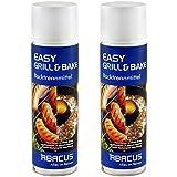 EASY GRILL & BAKE 2x 500 ml (7103) --- Backtrennmittel Spray Backtrenn-Mittel Antihaft Backpapierersatz Backpapier-Ersatz Waffeleisen Pfannen Formen Grillrost Brotbackmaschinen -- ABACUS