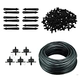 #9: CINAGRO - Drip Irrigation Accessories - 4mm Feeder Line Pipe, Drip Emitters, Pin Connectors and Arrow Stakes
