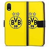 DeinDesign Apple iPhone Xr Tasche Leder Flip Case Hülle BVB Borussia Dortmund Sterne