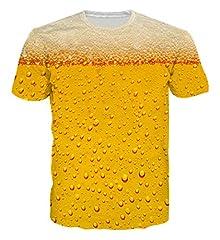 Idea Regalo - Goodstoworld Camicia Tiger Beer T 3D Golden Stampa Uomini Donne Estate Personalizzata Manica Corta Casuale Maglietta Tee Tops Piccolo