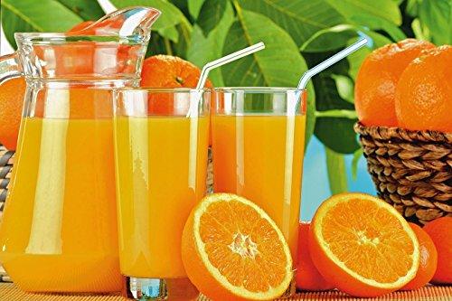 Saft-bild (Artland Poster oder Leinwand-Bild gespannt auf Keilrahmen mit Motiv Atlantismedia Gesunder Orangensaft Ernährung & Genuss Getränke Saft Fotografie Gelb D7QS)