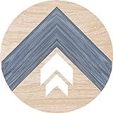 Cuadros Lifestyle 2D-Wandobjekt aus Holz | Streifen | Pfeile | Wandteller | Holzbild | Shabby-Look | Landhaus | Vintage | Holzobjekt | Deko | Holzdruck | Geschenk, Größe:ca. 40x40cm