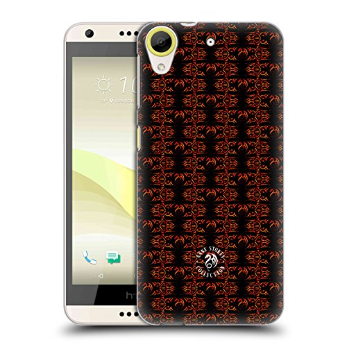 Official Anne Stokes Motif Dragon Pattern Fire Tribal Hard Back Case for HTC Desire 650